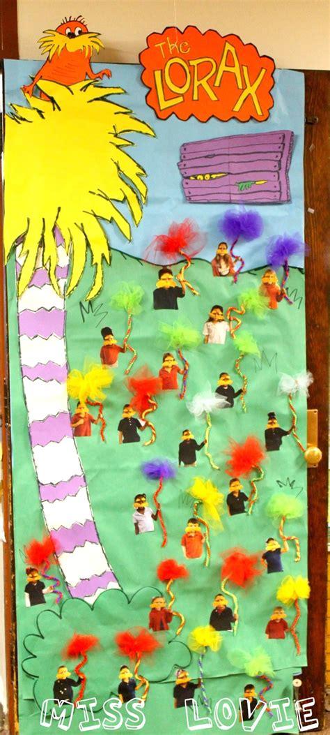 dr seuss door decorating ideas miss lovie truffula tree craft tutorial and the