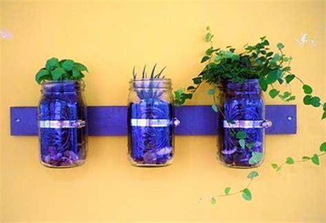 jar wall planter planter ideas for your garden patio global garden
