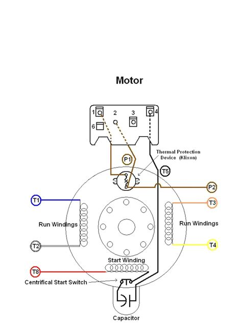 Typical Electric Motor Wiring by Dayton Electric Motors Wiring Diagram