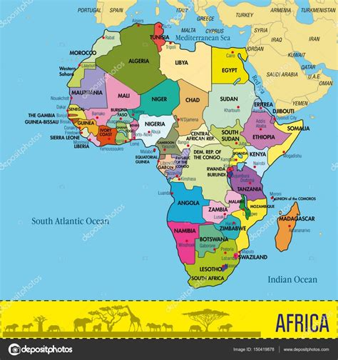 Current Map Of Africa Countries.Names Current Map Africa Countries