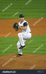 Minor-League Baseball Pitcher During His Wind-Up Stock ...