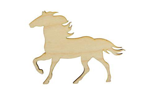 horse shape unfinished wood animal cutouts variety