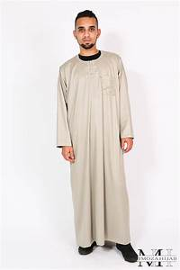 qamis ikaf manches longues couleur With robe homme musulman