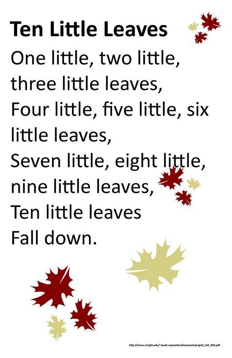itty bitty rhyme ten leaves itty bitty 366   39242b40649c5cd486ba29bcc2a8c1ae