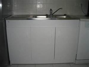 Meuble Sous Evier 120 : meuble sous evier avec evier ~ Nature-et-papiers.com Idées de Décoration