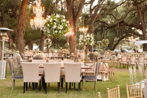 glamorous outdoor wedding with rustic rose gold details