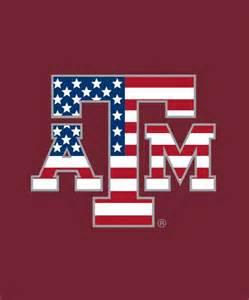 Texas A&M American Flag Decal