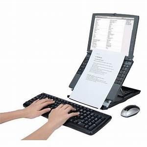 Support Pour Pc Portable : support pour ordinateur portable desq avec porte documents ~ Mglfilm.com Idées de Décoration