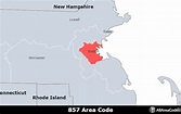 857 Area Code - Location map, time zone, and phone lookup