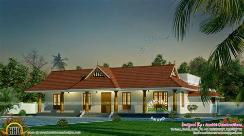 Small Traditional Nallukettu House - Kerala home design