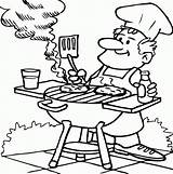 Coloring Pages Dad Bar Barbecuing Bbq Printable Drawing Cooking Digital Timtim Grill Stamps Drawings Cool Father Summer Tt Que Fathers sketch template