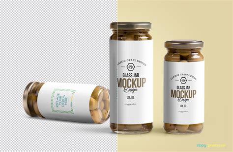Free mockups and design tools. Free Glass Jar Mockup PSD | ZippyPixels