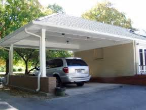 Garage with Carport Attached to House