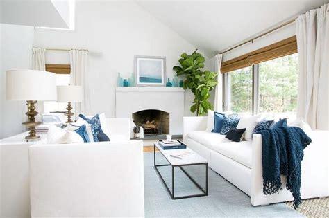 Blau Wohnzimmer by White And Blue Coastal Living Room Design Ideas