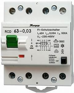 Fi Typ A : rcd fehlerstromschutz schalter typ a 63 a 30 ma 4 polig bei reichelt elektronik ~ Markanthonyermac.com Haus und Dekorationen