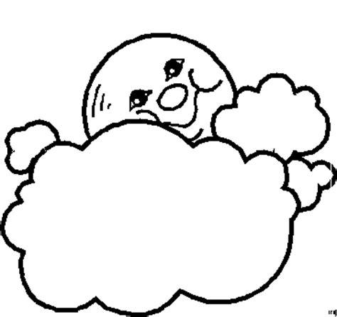 mond  der wolken ausmalbild malvorlage sonne mond und