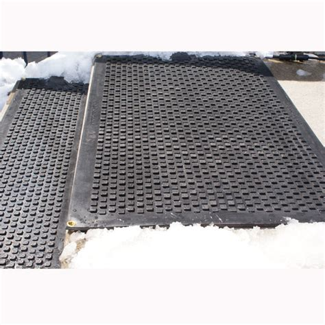 heated sidewalk mat blocks outdoor heated industrial walkway driveway mat