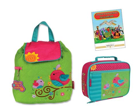stephen joseph quilted backpack lunch box set toddler 618 | 898239658 o
