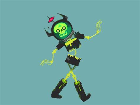 alien zombie  parade  keri rainock dribbble dribbble