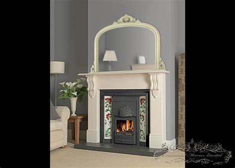 image of modern fireplace mantels ivory mantel mirrors mantel mirrors from