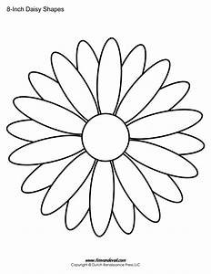 Free printable daisy templates daisy shape flower pdfs for Daisy cut out template