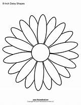 Daisy Outline Shape Templates Drawing Coloring Flower Template Print Printables Stencil Printable Pages Clip Inch Clipart Drawings Clker Timvandevall Paintingvalley sketch template