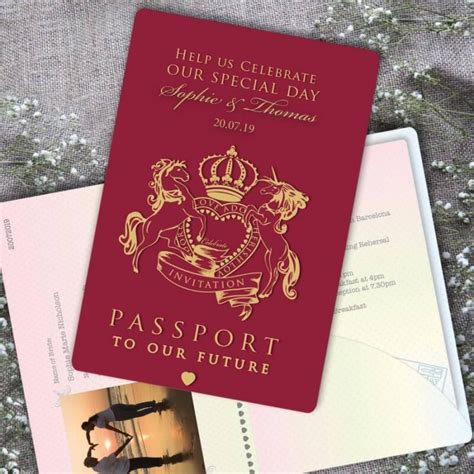 passport  love wedding invitation paper themes wedding