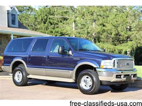 ford excursion limited  trucks commercial