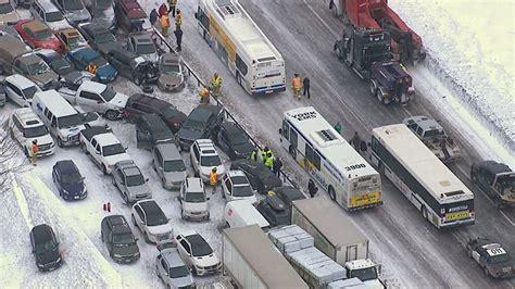 Nearly 100-vehicle Pileup North Of Toronto