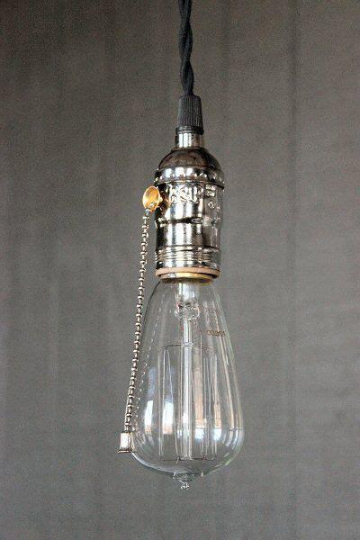 light bulb pull chain pendant lights bulbs and industrial on pinterest