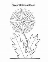 Dandelion Coloring Flower Wish Clip Sheets Silhouette Printable Sheet Template Boys Getdrawings Getcolorings sketch template