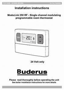 20 Installation Instructions Modulink 250 Rf