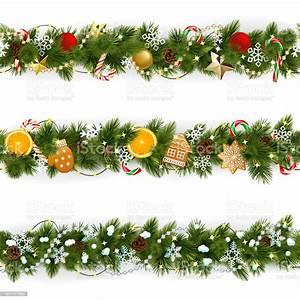 Vector, Pine, Christmas, Border, Stock, Illustration, -, Download, Image, Now