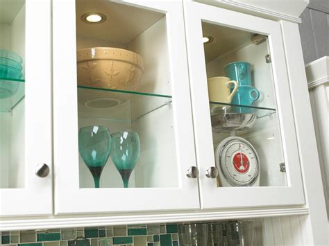 glass cabinet with lights how to choose kitchen lighting hgtv