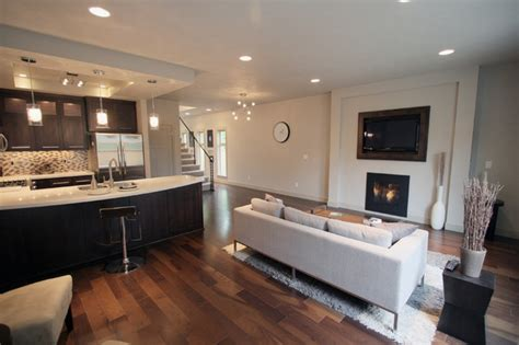 41071 modern living room with open kitchen living room kitchen area modern