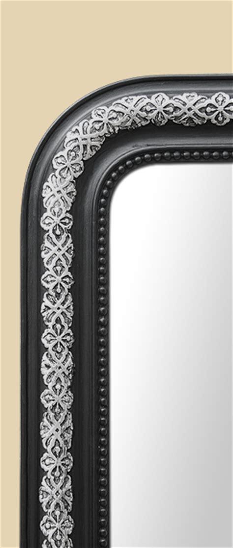 grand miroir chemin 233 e napoleon iii noir et argent patine ancien
