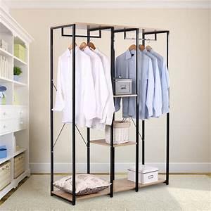 Kleiderständer Mit Ablage : xxxl kleiderst nder w schest nder kleiderschrank mit ablage schuhregal sr0048hei ebay ~ Orissabook.com Haus und Dekorationen