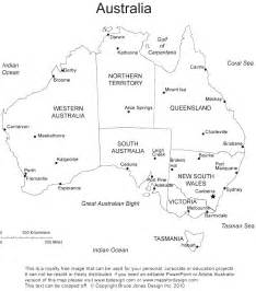Blank Australia Map Outline Printable