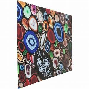 Tableau En Verre : tableau en verre achat colore 100x150cm kare design ~ Melissatoandfro.com Idées de Décoration