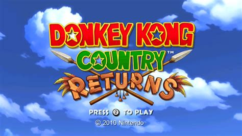 Donkey Kong Country Returns Game Giant Bomb