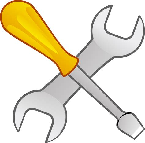 Screwdriver Clipart Screwdriver And Wrench Vector Clipart Image Free Stock