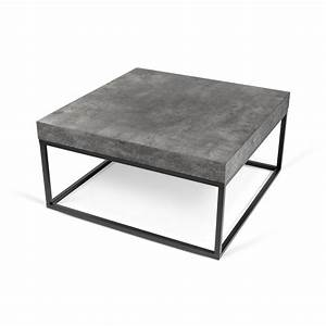 peter concrete coffee table statement furnishings outlet With concrete coffee table and end tables