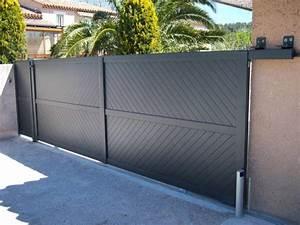 Portail Aluminium Pas Cher : portail aluminium coulissant 4m pas cher portail alu ~ Melissatoandfro.com Idées de Décoration