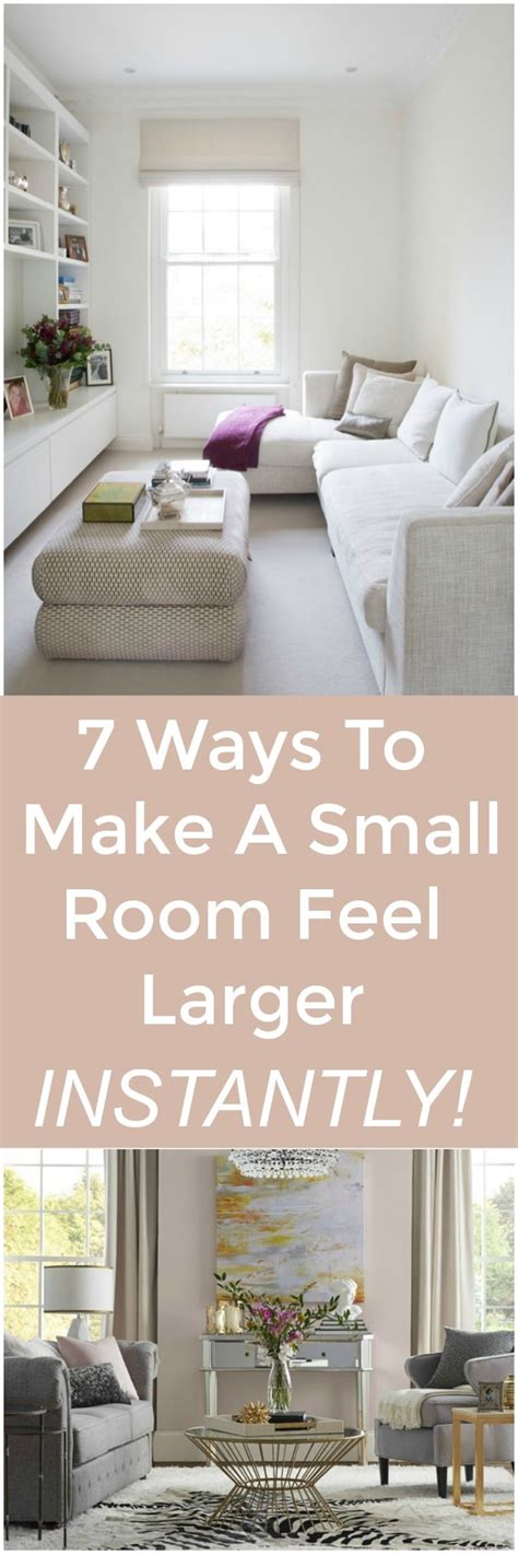 how to make a small bedroom look larger decorating with indigo blue black and gray shades of 21257 | 7 ways make small room feel larger