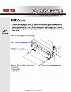 Waltco Mpf Series Liftgate By The Liftgate Parts Co