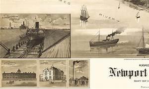 Newport News, Virginia in 1891- Bird's Eye View Map ...