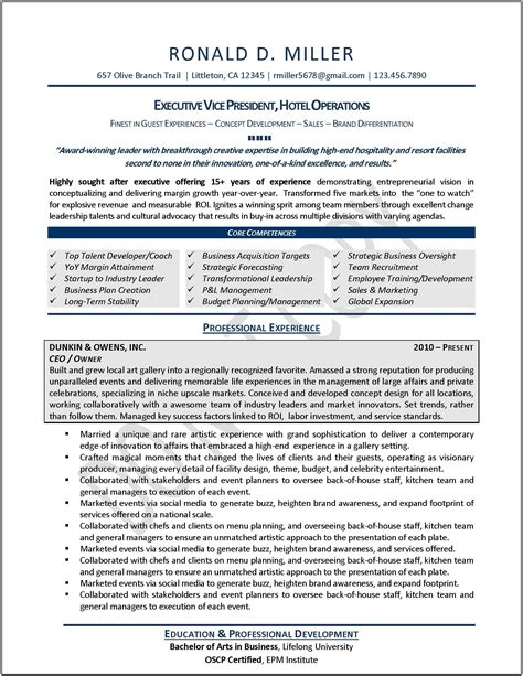 exles of resumes facilities manager professional