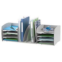 organiseur de bureau organiseur de bureau evolution l de paperflow gris 79