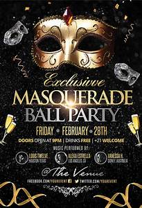 Party flyer examples free premium templates for Masquerade ball poster template