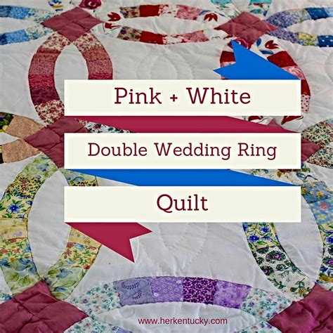 pink and white wedding ring quilt kentucky